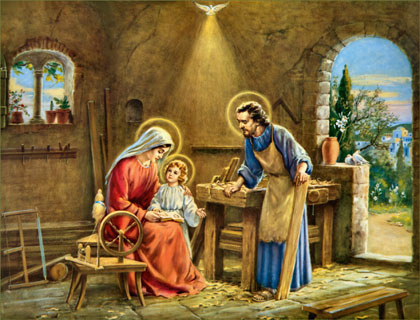 The Holy Family in St. Joseph's Carpentry Shop